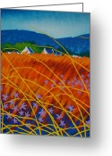 Sky Studio Greeting Cards - Golden Meadow Greeting Card by John  Nolan