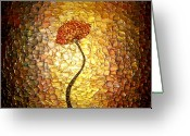 Red Poppy Prints Sculpture Greeting Cards - Golden Morning Greeting Card by Daniel Lafferty