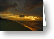 Myrtle Beach South Carolina Greeting Cards - Golden Morning Greeting Card by Jeff Breiman