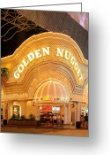 Fremont Street Greeting Cards - Golden Nugget Greeting Card by Viktor Savchenko