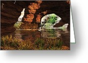 Passageways Greeting Cards - Golden Passageways Greeting Card by John Pirillo