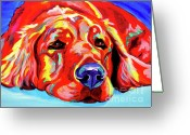 Dawgart Greeting Cards - Golden Retriever - Ranger Greeting Card by Alicia VanNoy Call