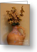 Stock Still Life Photo Greeting Cards - Golden Shabby Chic Greeting Card by Marsha Heiken