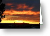Mark Lehar Greeting Cards - Golden Sunset I Greeting Card by Mark Lehar