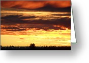 Mark Lehar Greeting Cards - Golden Sunset III Greeting Card by Mark Lehar