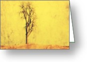 Rural Art Greeting Cards - Golden Tree Greeting Card by Julie Hamilton