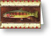 Lodge Greeting Cards - Golden Trout Lodge Greeting Card by JQ Licensing