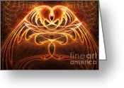 Angel Posters Greeting Cards - Golden Wings Greeting Card by Ester  Rogers