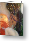Goldfish Greeting Cards - Goldfish Greeting Card by Gustav Klimt