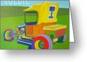 Ford Street Rod Greeting Cards - Goldie Model T Greeting Card by Evie Cook