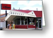 Williams Greeting Cards - Goldies Route 66 Diner  Greeting Card by Will Borden