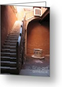 Venice - Italy Greeting Cards - Goldoni House. Venice Greeting Card by Bernard Jaubert