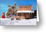 Office Painting Greeting Cards - GoldPoint-Nevada Greeting Card by Guido Borelli