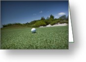 Golf Green Greeting Cards - Golf 1 Greeting Card by Al Hurley