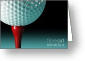 Playing Golf Greeting Cards - Golf Ball Background Greeting Card by Gualtiero Boffi