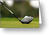 Golf Green Greeting Cards - Golf Day Greeting Card by Nino H. Photography
