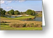 Sand Traps Greeting Cards - Golf in The Villages 2 Greeting Card by Betty Eich