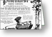 Golf Club Greeting Cards - Golf: Pinehurst, 1916 Greeting Card by Granger