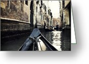 Gondola Photo Greeting Cards - gondola - Venice Greeting Card by Joana Kruse