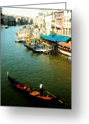 Sculling Greeting Cards - Gondola in Venice Italy Greeting Card by Michelle Calkins