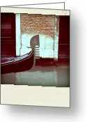 Venice - Italy Greeting Cards - Gondola.Venice.Italy Greeting Card by Bernard Jaubert