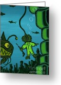 Daniel Greeting Cards - Gone Fishn Greeting Card by Dan Keough