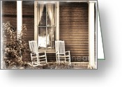 Rocking Chairs Greeting Cards - Gone Greeting Card by Julie Palencia