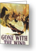 Motion Picture Greeting Cards - Gone With The Wind Greeting Card by Nomad Art and  Design
