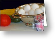 Kitchen Photos Greeting Cards - Good Food Greeting Card by Methune Hively