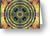 Sacred Geometry Greeting Cards - Good Fortune Greeting Card by Bell And Todd