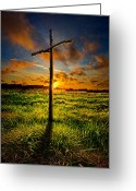 Easter Greeting Cards - Good Friday Greeting Card by Phil Koch