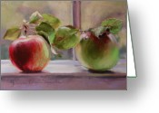 Food Pastels Greeting Cards - Good Friends Greeting Card by Jeanne Rosier Smith