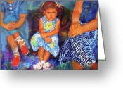 Retratos Greeting Cards - Good Girl or Bored Greeting Card by Estela Robles