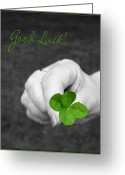 Selective Color Greeting Cards - Good Luck Greeting Card by Kristin Elmquist