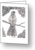 Paula Dickerhoff Greeting Cards - Good Morning Birdie Greeting Card by Paula Dickerhoff
