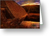 Drinking Water Greeting Cards - Good Morning Derwent Greeting Card by Nigel Hatton