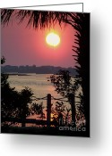 Topsail Island Greeting Cards - Good Morning Greeting Card by Karen Wiles