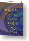 News Mixed Media Greeting Cards - Good News Greeting Card by Trish Jenkins