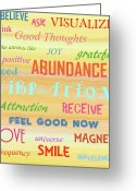 Law Of Attraction Greeting Cards - Good Vibration Greeting Card by D Perry
