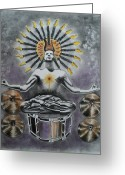 Man Pastels Greeting Cards - Good Vibrations Greeting Card by Carla Carson