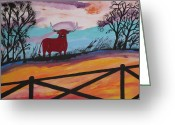 Board Fence Greeting Cards - Goodbye My Lover Greeting Card by Jeffrey Koss