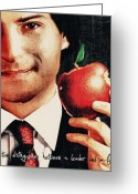 Digital Greeting Cards - Goodbye Steve Jobs Greeting Card by Radu Aldea