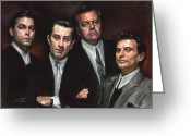 Family Pastels Greeting Cards - Goodfellas Greeting Card by Ylli Haruni