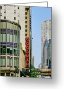 Performing Greeting Cards - Goodman Memorial Theatre Chicago Greeting Card by Christine Till