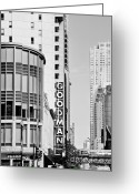Theatres Greeting Cards - Goodman Theatre Center Chicago Greeting Card by Christine Till