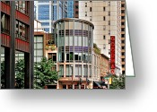 Landmarks Of Usa Greeting Cards - Goodman Theatre Chicago Illinois Greeting Card by Christine Till