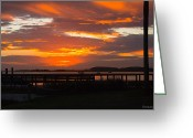 Bonnes Eyes Fine Art Photography Greeting Cards - Goodnight Sun Greeting Card by Bonnes Eyes Fine Art Photography