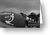 Lockheed Electra Greeting Cards - Goodtime Gal C-60 Transport Ariplane Greeting Card by M K  Miller