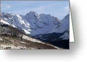 Snow-cap Greeting Cards - Gore Mountain Range Colorado Greeting Card by Brendan Reals