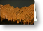 Bob Berwyn Greeting Cards - Gore Range alpenglow Greeting Card by Bob Berwyn